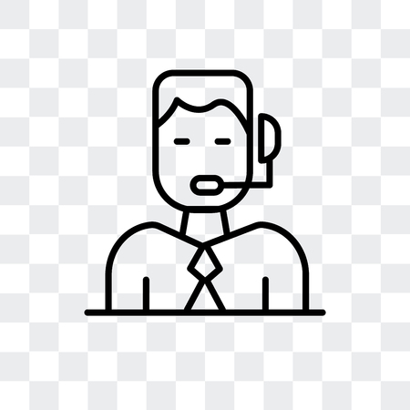 Commentator vector icon isolated on transparent background