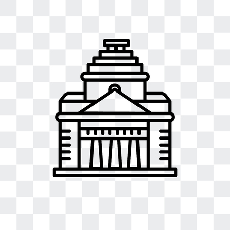 Shrine of Remembrance vector icon isolated on transparent background, Shrine of Remembrance logo concept