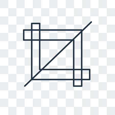 Icono de vector de herramienta de cultivo aislado sobre fondo transparente, concepto de logo de herramienta de cultivo Logos