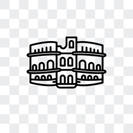 Pula Arena vector icon isolated on transparent background Çizim