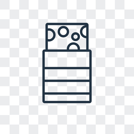 Turron vector icon isolated on transparent background Vettoriali