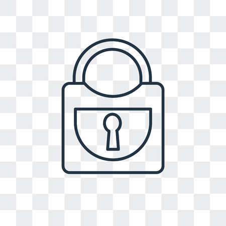 Padlock vector icon isolated on transparent background