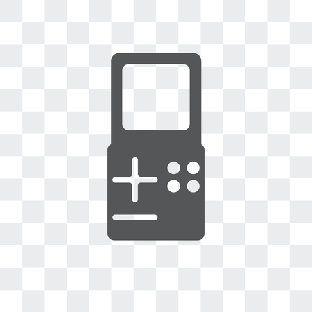 Game console vector icon isolated on transparent background