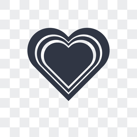Heart with shine vector icon isolated on transparent background  イラスト・ベクター素材