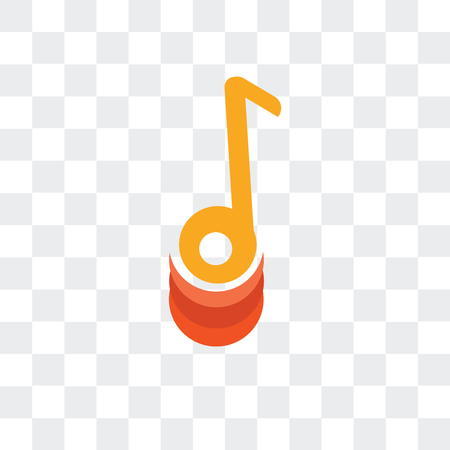 Music player vector icon isolated on transparent background Illustration