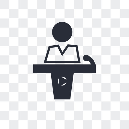 Conference hall vector icon isolated on transparent background