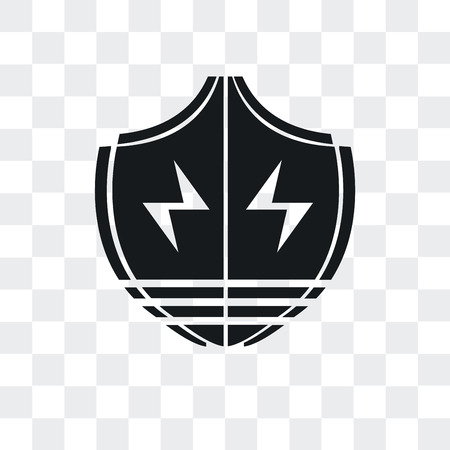 Shield vector icon isolated on transparent background