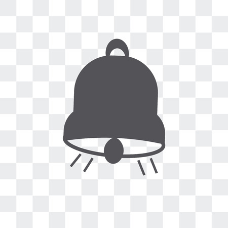 Big bell vector icon isolated on transparent background