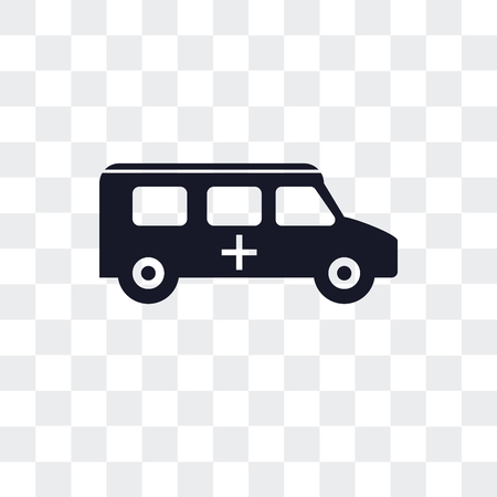 Ambulance vector icon isolated on transparent background Ilustração