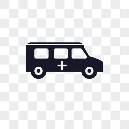 Ambulance vector icon isolated on transparent background Illustration