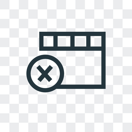 Remove vector icon isolated on transparent background