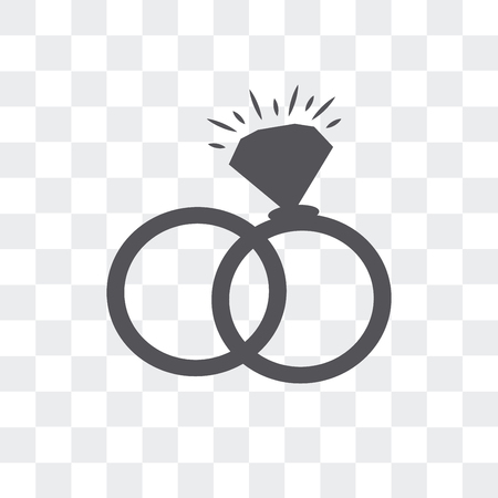 Interlocking rings vector icon isolated on transparent background