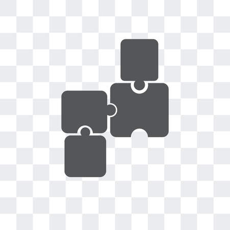 Puzzle vector icon isolated on transparent background