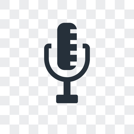 Radio Microphone vector icon isolated on transparent background