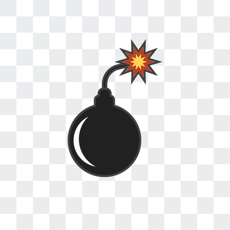 Bomb vector icon isolated on transparent background