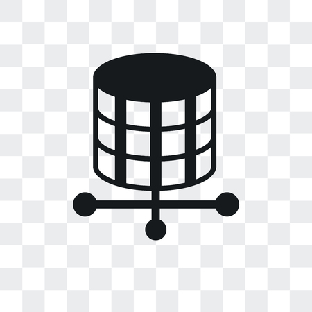 Storage vector icon isolated on transparent background