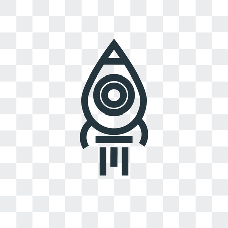 Rocket launch vector icon isolated on transparent background Illustration