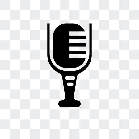 Mic vector icon isolated on transparent background
