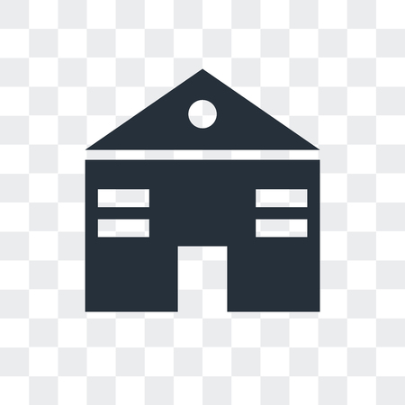 Home web page vector icon isolated on transparent background