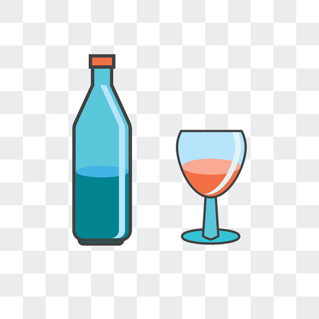 Alcoholic vector icon isolated on transparent background