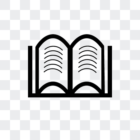 Hardbound book variant vector icon isolated on transparent background