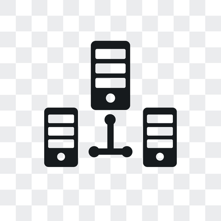 Server vector icon isolated on transparent background