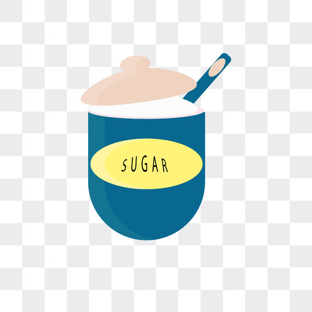 Sugar vector icon isolated on transparent background Ilustração