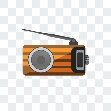 Radio antenna vector icon isolated on transparent background