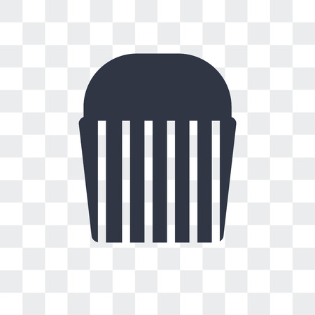 Muffin Bake vector icon isolated on transparent background Standard-Bild - 107234800