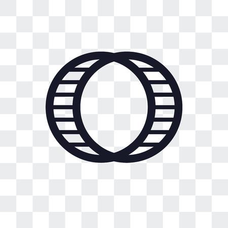 Hamsterballvektorikone lokalisiert auf transparentem Hintergrund Vektorgrafik