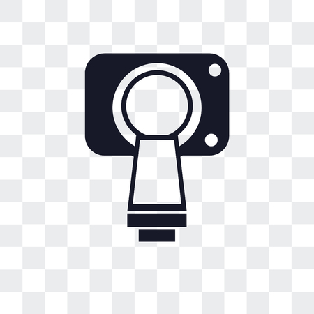Magnetic resonance vector icon isolated on transparent background Vettoriali