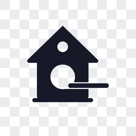 Birdhouse vector icon isolated on transparent background