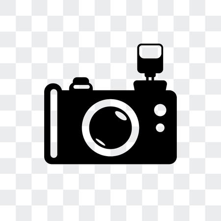 Icona di vettore della fotocamera reflex foto isolato su sfondo trasparente