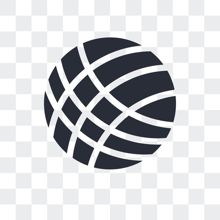 Volley ball vector icon isolated on transparent background