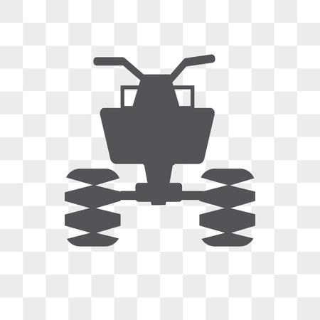 Icono de vector de vehículo todo terreno aislado sobre fondo transparente, concepto de logo de vehículo todo terreno Logos