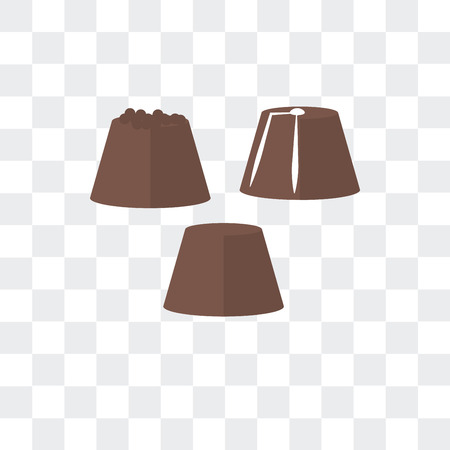 Chocolate vector icon isolated on transparent background, Chocolate logo concept Illustration