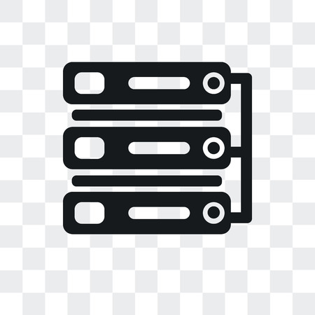 Server vector icon isolated on transparent background, Server logo concept