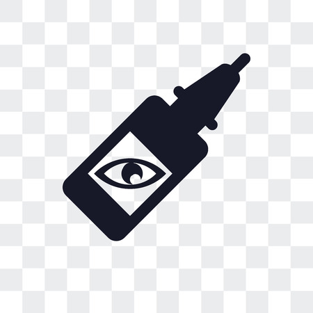 Eye drops vector icon isolated on transparent background, Eye drops logo concept