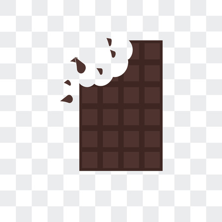 Chocolate bar vector icon isolated on transparent background, Chocolate bar logo concept