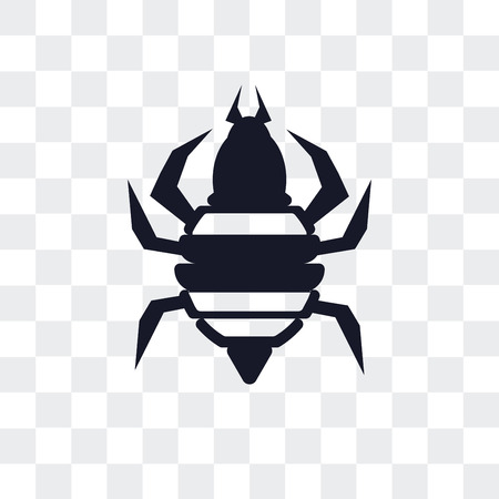 Louse vector icon isolated on transparent background, Louse logo concept Illustration