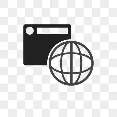 Browser vector icon isolated on transparent background, Browser logo concept Imagens - 107222011