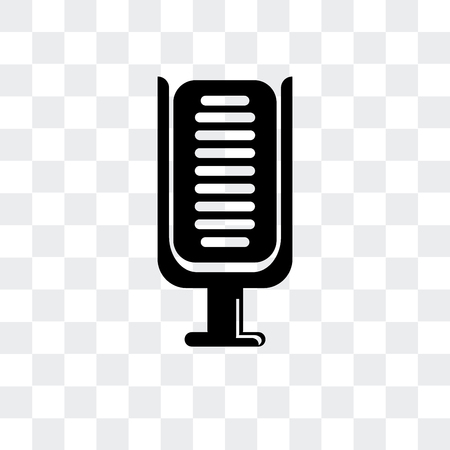 Microphone vector icon isolated on transparent background, Microphone logo concept Illustration