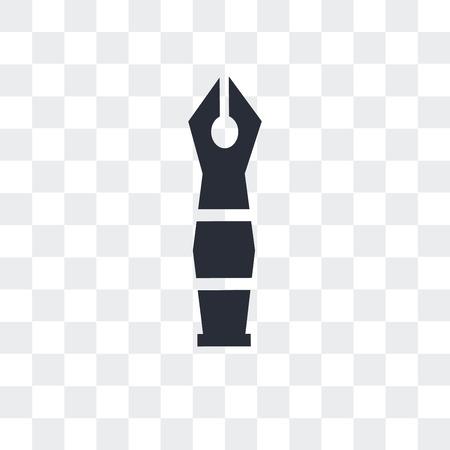 Fountain pen vector icon isolated on transparent background, Fountain pen logo concept