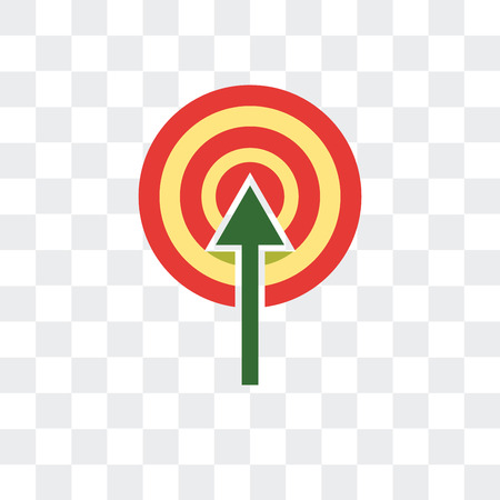 Target vector icon isolated on transparent background, Target logo concept  イラスト・ベクター素材