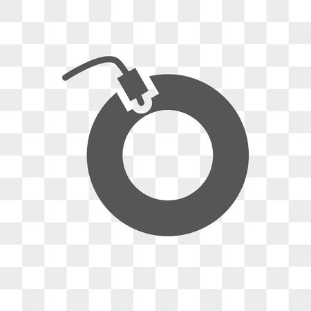 Vinyl vector icon isolated on transparent background, Vinyl logo concept Illustration