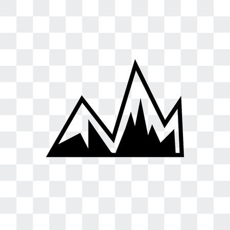 Image with mountains vector icon isolated on transparent background, Image with mountains logo concept