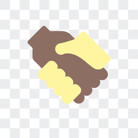 Handshake vector icon isolated on transparent background, Handshake logo concept Illustration