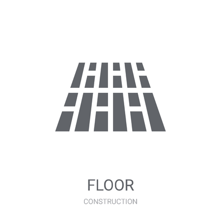 Floor icon. Trendy Floor logo concept on white background from Construction collection. Suitable for use on web apps, mobile apps and print media.