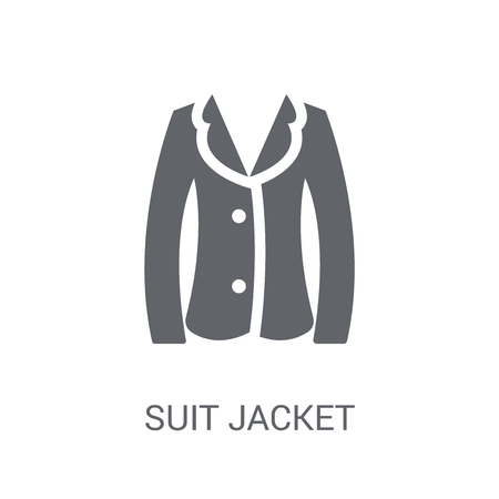 suit jacket icon. Trendy suit jacket logo concept on white background from Clothes collection. Suitable for use on web apps, mobile apps and print media. Illustration