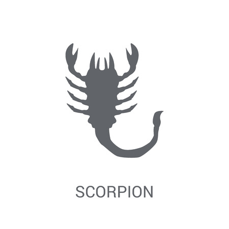 Scorpion icon. Trendy Scorpion logo concept on white background from animals collection. Suitable for use on web apps, mobile apps and print media.